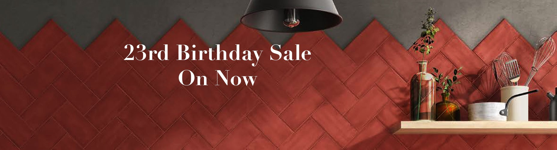 23% off all tiles
