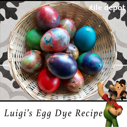 Luigi's Egg Dye Recipe