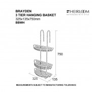 Brayden 3 Tier Hanging Basket