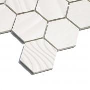 Egyption White Hexagonal Mosaic 300 x 345