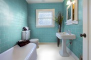 City Aqua Blue Gloss 100 x 300