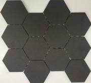 Timeless Charcoal Hexagonal Matt Mosaics 302 x 262