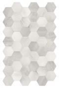 BETON AXIS GREY HEXAGONA WHITE / GREY 210 X 182
