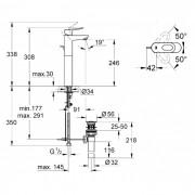 Grohe Bauloop XL Basin Mixer Chrome 32856000