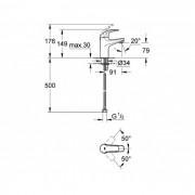 Grohe Baucurve Basin Mixer Chrome 23174000