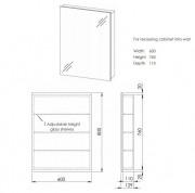 Avon 600 Mirror 1 Door Gloss White
