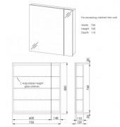 Avon 750 Mirror 2 Door Raft Wood