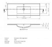 Citi 1200 Wall Hung Vanity 2 Drawer Single Basin Raft Wood