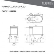 Forme Close Coupled Toilet Suite