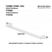 Forme Towel Rail 600mm