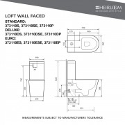 Loft Back-To-Wall Toilet - 373110S