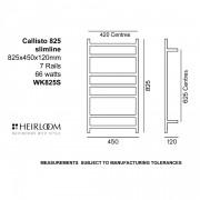 Callisto 825 Slimline ESP Towel Warmer