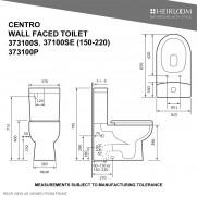 Centro Back-To-Wall Toilet - 373100SE