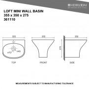 Loft Mini Wall Basin