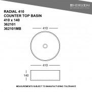 Radial 410 Countertop Basin
