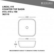 Lineal 410 Countertop Basin