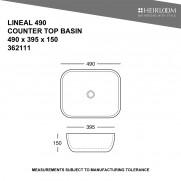 Lineal 490 Countertop Basin