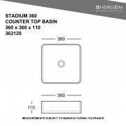 Stadium 360 Countertop Basin