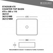 Stadium 470 Countertop Basin