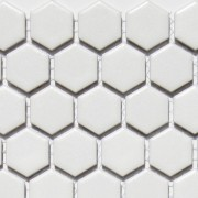 Mosaix Hexagonal White Matt  (23mm) 260 x 300