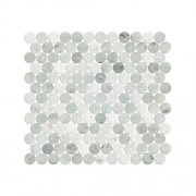 Mosaix Penny Round Ming Green 287 X 304